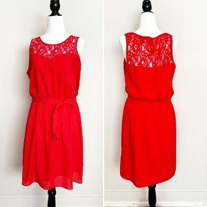 CHIC by JACOB Red Lace Cocktail Dress Size Medium